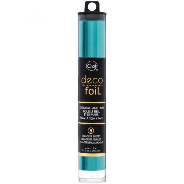 Deco Foil - Turquoise Satin