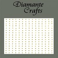 240 x 1mm Self Adhesive Gold Diamantes