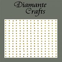 225 x 2mm Self Adhesive Gold Diamantes
