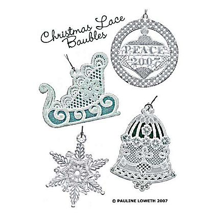 Christmas Lace Baubles