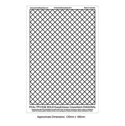 Cross Hatch - Bold Diagonal